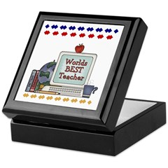 World's Best Teacher Tile Box