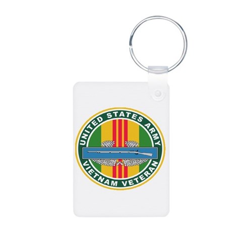 ARMY VIET VET  Military Aluminum Photo Keychain by CafePress