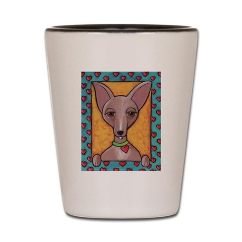 Bedazzled Chihuahua  Dog Shot Glass by CafePress