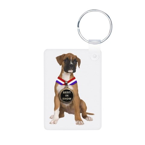 Best In Show Boxer  Pets Aluminum Photo Keychain by CafePress