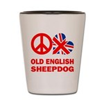Old English Sheepdog Shot Glass