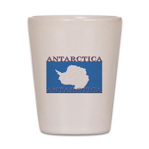 Antarctica Flag  Antarctica Shot Glass by CafePress