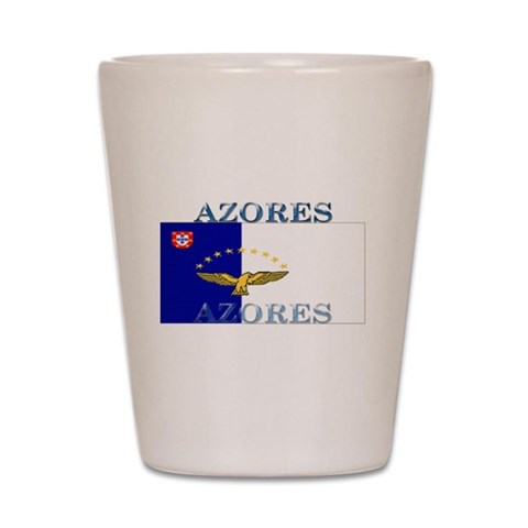 Azores Flag  Azores Shot Glass by CafePress