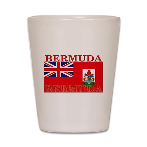 Bermuda Flag  Bermuda Shot Glass by CafePress