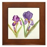 Purple Iris by Wendy C. Allen Framed Tile