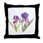Purple Iris by Wendy C. Allen Throw Pillow