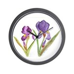 Purple Iris by Wendy C. Allen Wall Clock