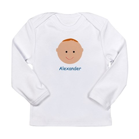 Baby Boy Alexander  Baby / kids / family Long Sleeve Infant T-Shirt by CafePress