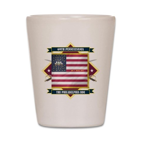 69th Pennsylvania  Flags Shot Glass by CafePress