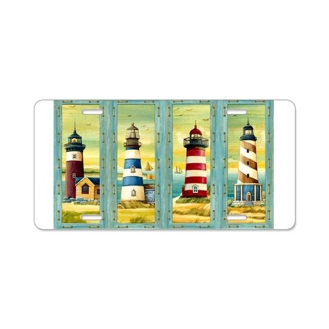 Beach Aluminum License Plate by CafePress