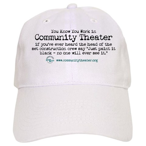 - Just Paint It Black Humor Cap by CafePress