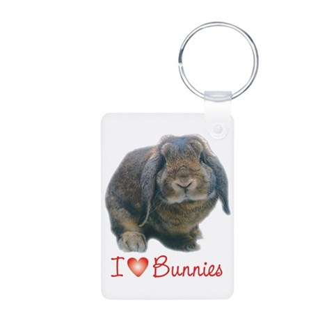 bunny lover  Pets Aluminum Photo Keychain by CafePress