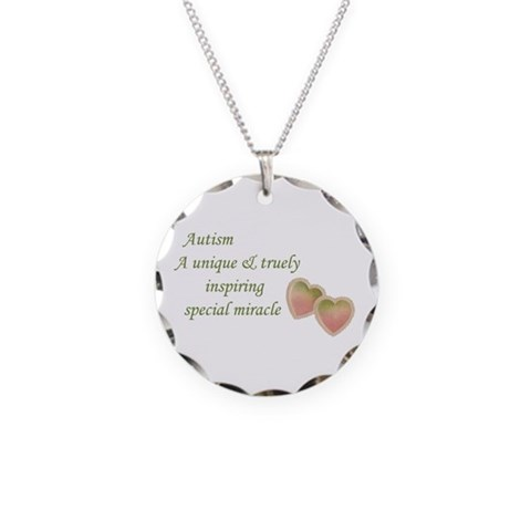 Autism Awareness amp; Love  Autism Necklace Circle Charm by CafePress