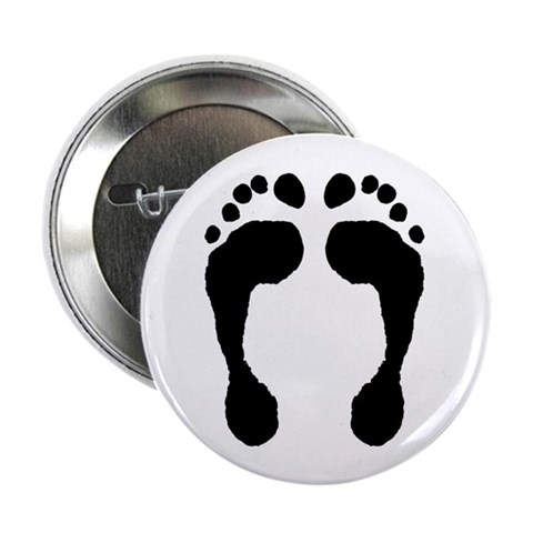 2.25 Barefoot Button 10 pack Feet 2.25 Button 10 pack by CafePress