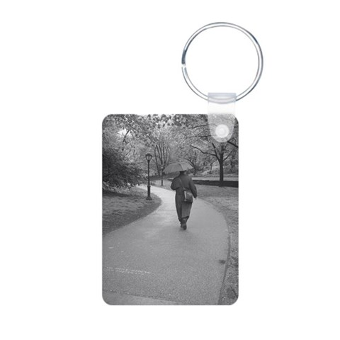 Alone or Lonely  New york Aluminum Photo Keychain by CafePress