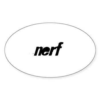 nerf Sticker (Oval)