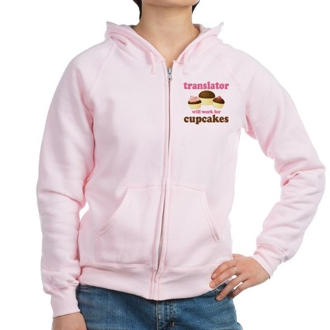 Funny Translator T-shirts and Gifts Women's Zip Ho Cupsreviewcomplete Women's Zip Hoodie by CafePress