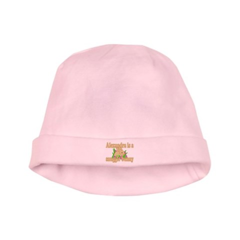 Alexandra is a Snuggle Bunny  Cute baby hat by CafePress