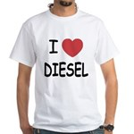 I heart diesel White T-Shirt