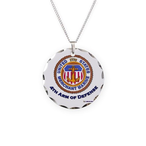 4th Arm of Defense  Military Necklace Circle Charm by CafePress