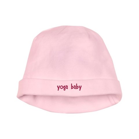 Yoga Babe Versus Pilates Babe  Baby baby hat by CafePress