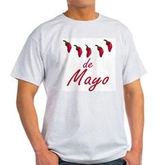 Cinco de Mayo Chili Peppers Ash Grey T-Shirt