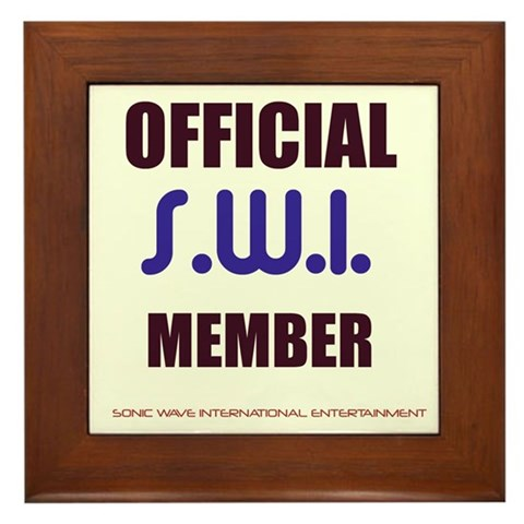- OFFICIAL SWI MEMBER  Framed Tile by CafePress