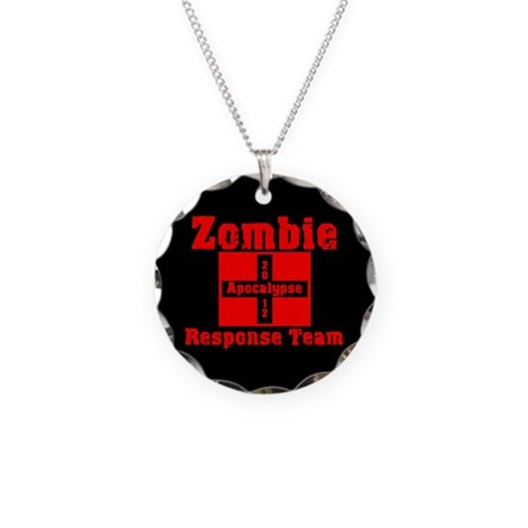Zombie  Zombie Necklace Circle Charm by CafePress