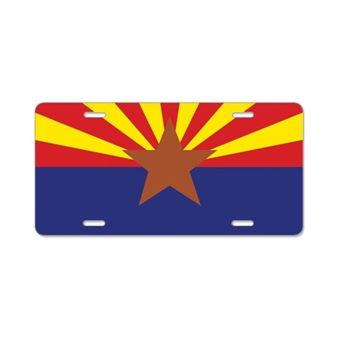Arizona State Flag   Aluminum License Plate by CafePress