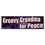 Groovy Grandma for Peace Bumper Sticker