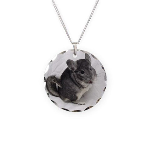 Chinchilla  Cupsreviewcomplete Necklace Circle Charm by CafePress