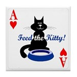 Cats Playing Poker Tile Coaster