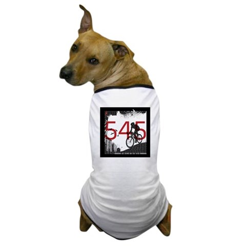 545 Miles To End Aids -  Cycling Dog T-Shirt by CafePress