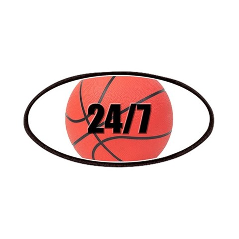 24/7 Basketball  Sports Patches by CafePress