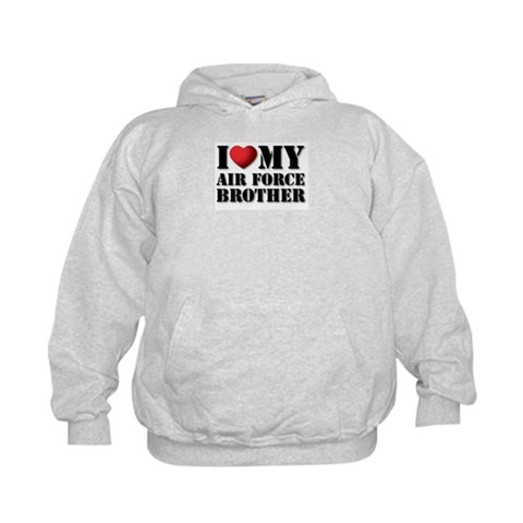 Air Force Brother  Military Kids Hoodie by CafePress