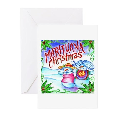 Marijuana Christmas Cards Pk of 10 Music Greeting Cards Pk of 10 by CafePress