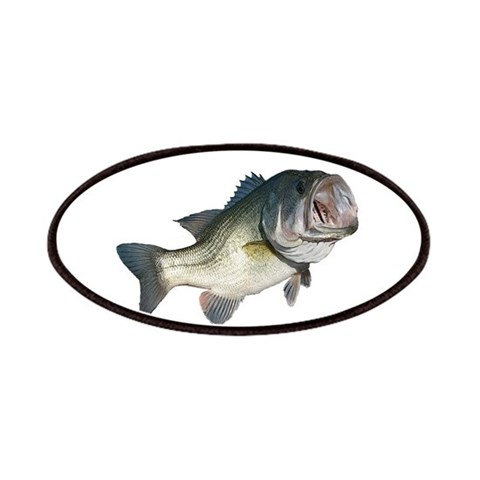 Bass Fisherman  Hobbies Patches by CafePress