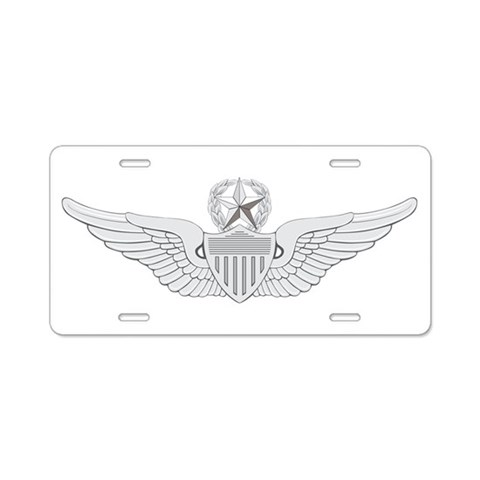 Aviator  Military Aluminum License Plate by CafePress