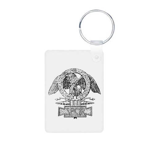 CANE SPQR Eagle  Eagle Aluminum Photo Keychain by CafePress