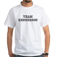 Team Henderson White T-Shirt