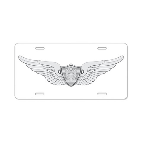 Aviation  Military Aluminum License Plate by CafePress