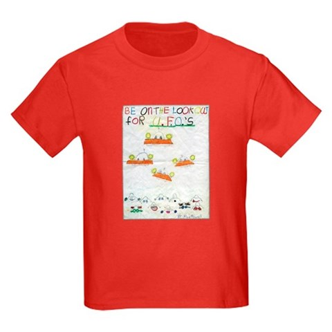 - Be On The Lookout For UFOs Ufo Kids Dark T-Shirt by CafePress