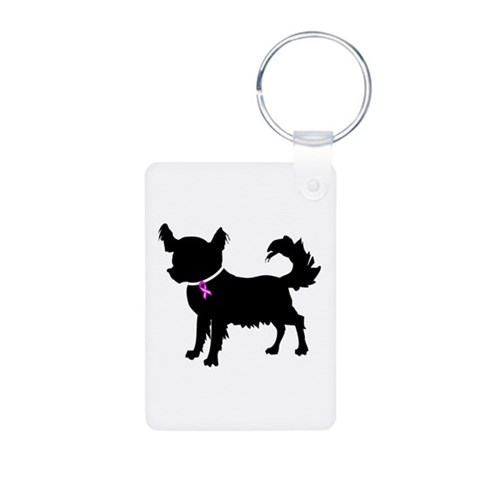 Chihuahua  Pets Aluminum Photo Keychain by CafePress