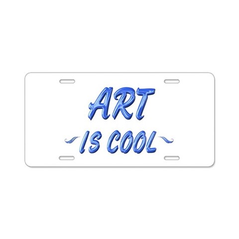Art is Cool  Art Aluminum License Plate by CafePress