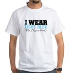 Custom Prostate Cancer White T-Shirt