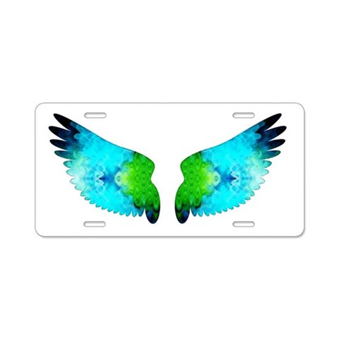 Angel Wings  Funky Aluminum License Plate by CafePress
