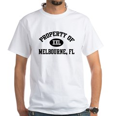 Property of Melbourne White T-Shirt