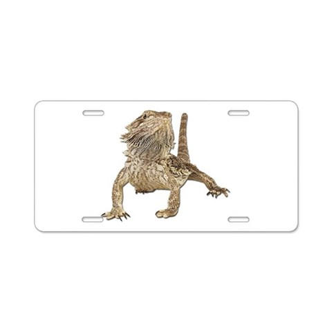 Bearded Dragon Photo  Funny Aluminum License Plate by CafePress