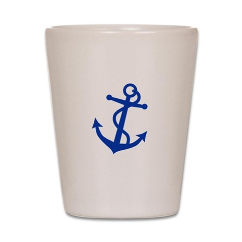 Anchor  Hobbies Shot Glass by CafePress