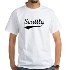 Vintage Seattle White T-Shirt